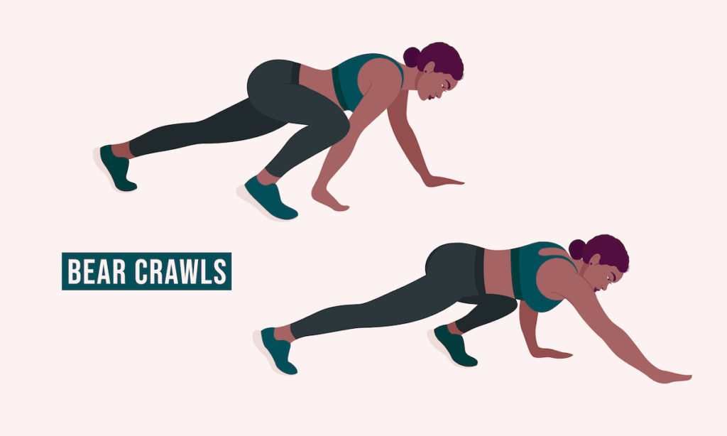 bear crawl workout with kids Chicago