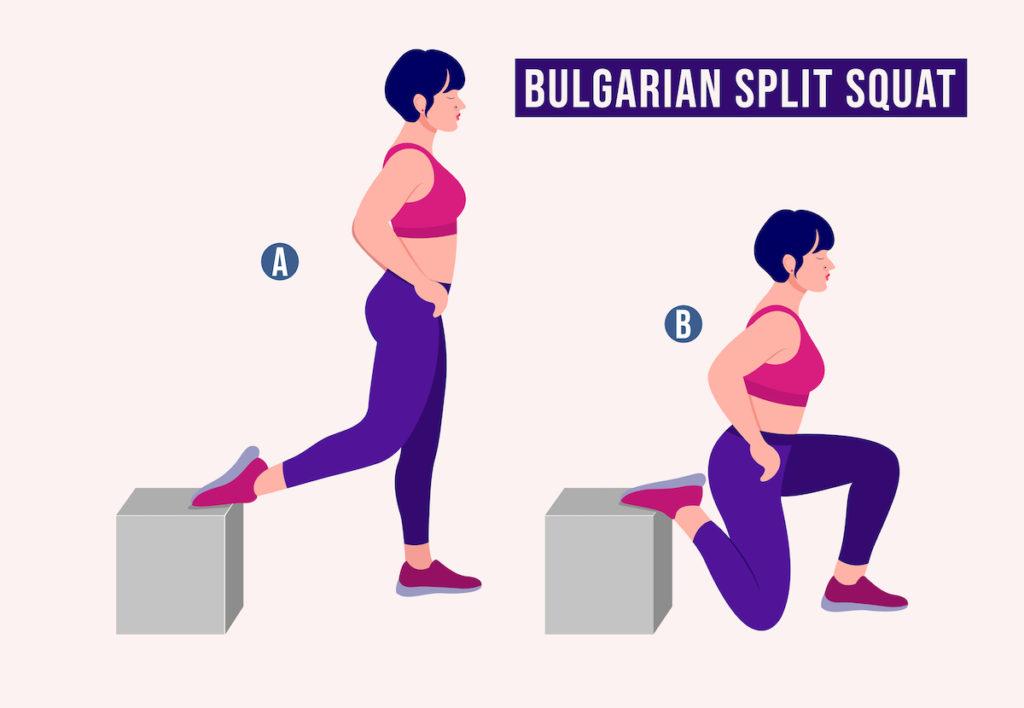 best butt workouts Bulgarian Split Squat TushToners