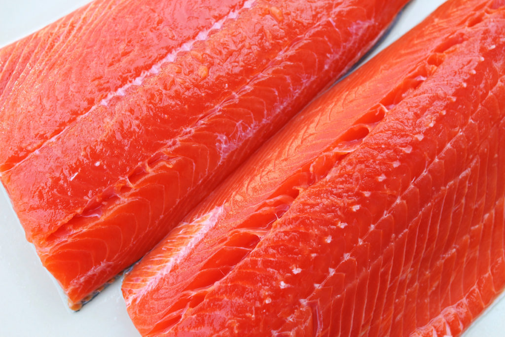 eat wild salmon to tone your butt and reduce cellulite Chicago TushToners