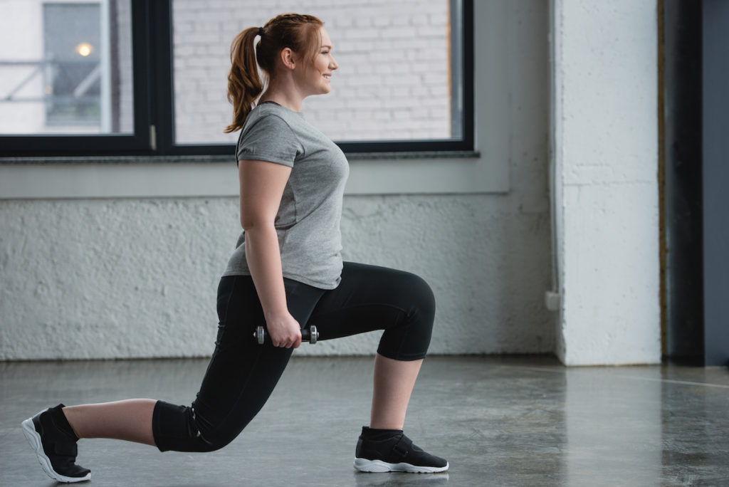 lunges with weights butt exercise