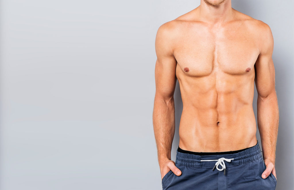 man with good abs Mesomorph body type