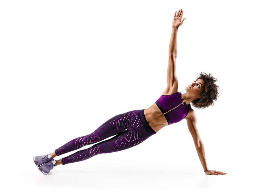 side plank at home workout Chicago body sculptig