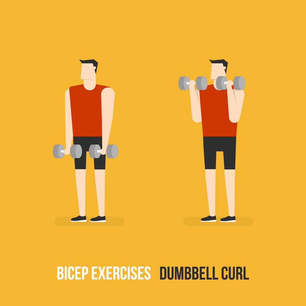 bicep dumbbell curls Chicago body sculpting
